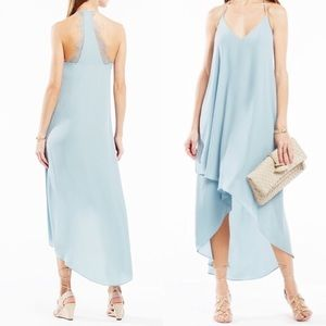 BCBG Light Blue Cressida High Low Dress worn once
